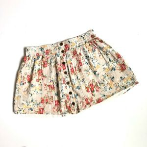 MIMI CHICA Floral Print Mini Skirt Juniors Buttons